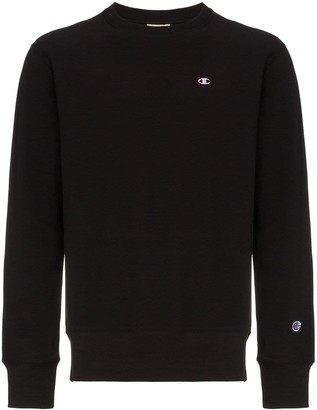 Champion logo embroidered cotton sweatshirt