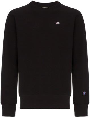 Champion Logo Embroidered Cotton Sweatshirt