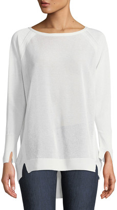 Halston Bateau-Neck Oversized Sweater