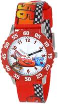 Disney Kids' W001035 Cars Stainless Steel Red Bezel Red Nylon Strap Watch