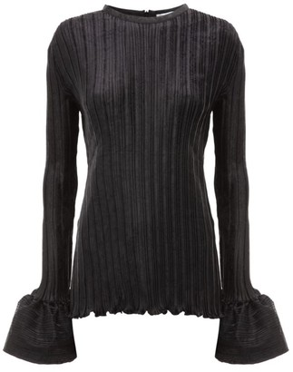 J.W.Anderson Ribbed Bell-Sleeve Top