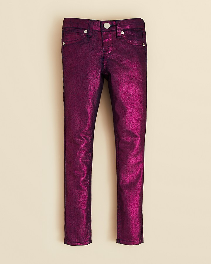 Aqua Toddler Girls' Metallic Skinny Jeans - Sizes 2T-4T