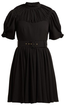 Emilia Wickstead Corinne Pleated Crepe Mini Dress - Black
