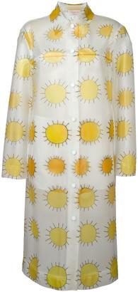 Christopher Kane Allover Printed Sun Waterproof Coat