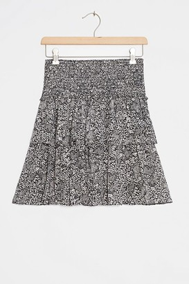 Anthropologie Jennalyn Tiered Mini Skirt