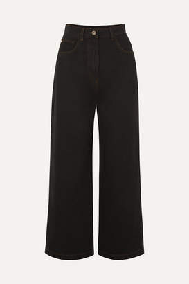 Nanushka Marfa High-rise Straight-leg Jeans - Black