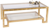 Worlds Away 2-Tier Coffee Table With Beveled Glass