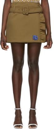 Prada Beige Wrap Miniskirt