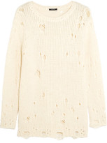 R 13 Distressed Knitted Sweater