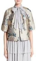 St. John Women's Laksha Floral Jacquard Cocoon Jacket