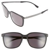 BOSS Men's 56Mm Retro Sunglasses - Black Ruthenium/ Gray