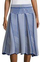Issey Miyake Printed Pleated Skirt