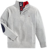 Tommy Hilfiger Boys' Quarter-Zip Sweater with Elbow Patches