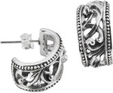 Barse Women's Sterling Silver Swirl Earrings CRVDE06SS