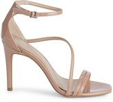 BCBGeneration Isabel Patent Ankle-Strap Stiletto Sandals