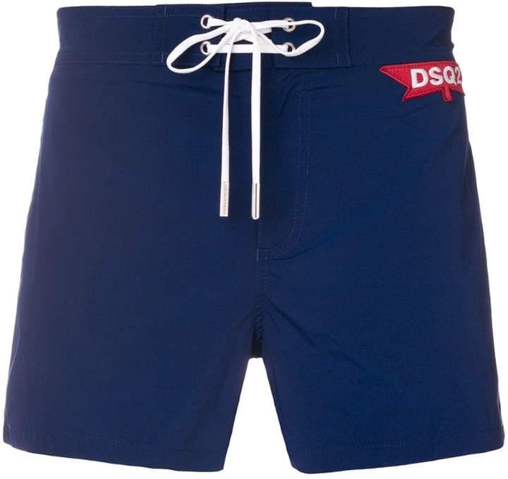 DSQUARED2 logo patch swim shorts