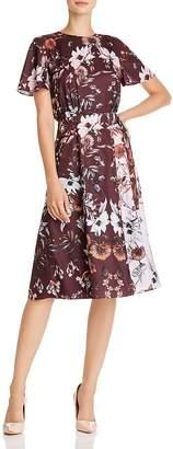 Ted Baker Yaela Amethyst Color-Blocked Floral Dress - 100% Exclusive