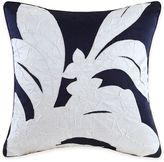 Natori Origami Mum Embroidered Square Throw Pillow