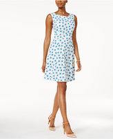 Nine West Star-Print Fit & Flare Dress