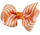 WuyiMC Trendy Big Hair Bows With Oversized Ribbon Alligator Clip For Women Babies Little Girls (Orange)