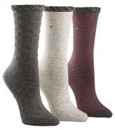 Calvin Klein Three-Pack Dot and Striped Crew Socks