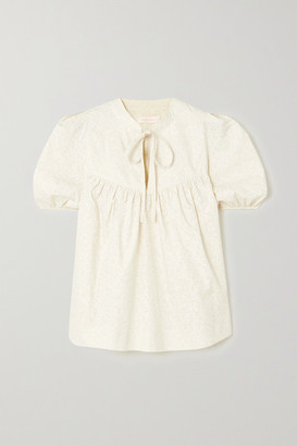 See by Chloe Floral-print Cotton-poplin Blouse