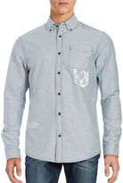 Billionaire Boys Club Mantra Graphic Button Collar Shirt
