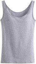 Alaroo Womens Built-in Bra Tank Top Summer Casual Tops T Shirt L