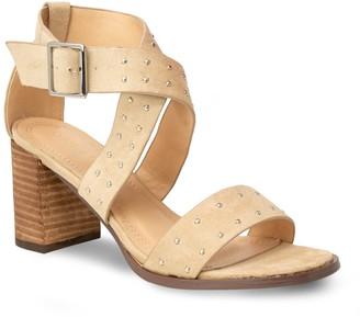 Chase & Chloe Pansy Studded Block Heel Sandal