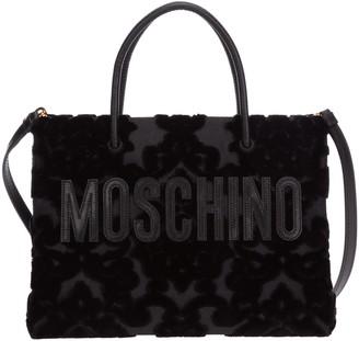 Moschino Logo Brocade Tote Bag