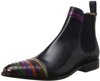 Melvin & Hamilton Men's Riley 4 Chelsea Boots, Multicolour Crust Multi, Elast. Navy, LS Blk