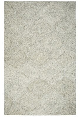 "Pershing Gracie Oaks Hand-Tufted Beige Area Rug Gracie Oaks Rug Size: Runner 2'6"" x 8'"