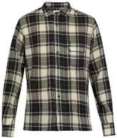 Simon Miller Bexar point-collar plaid wool shirt