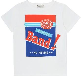 Gucci Kids Printed cotton jersey T-shirt