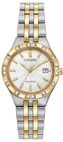 Citizen 27mm Two-Tone Stainless Steel Bracelet Watch w/ Diamonds