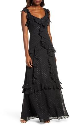 Lilly Pulitzer Riland Clip Dot Maxi Dress