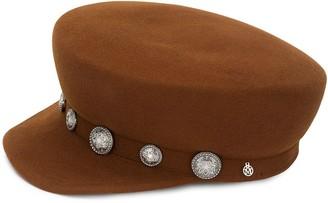 Maison Michel Button-Embellished Cap