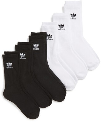 adidas Trefoil 6-Pack Crew Socks