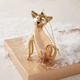 Gilded Glass Ornament - Cat