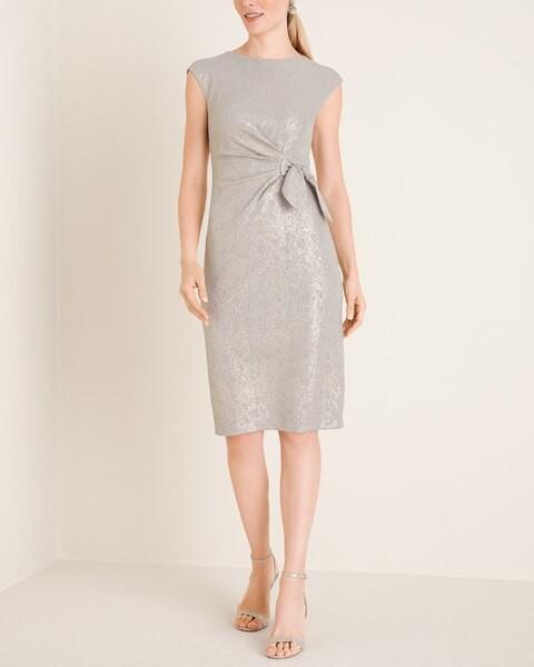 London Times Side-Twist Dress__