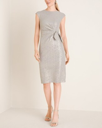 London Times Side-Twist Dress