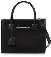 M2Malletier Leather Mini Tote Bag, Black
