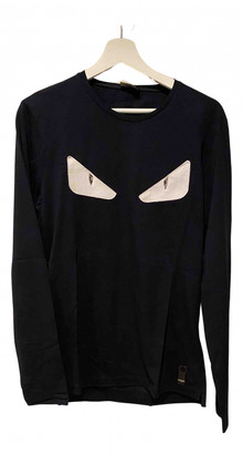 Fendi Navy Cotton T-shirts