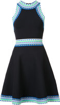Milly contrast trim flared dress - women - Nylon/Polyester/Spandex/Elastane/Viscose - XS