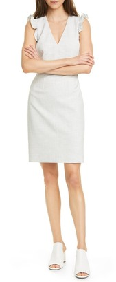 Tailored by Rebecca Taylor Ruffle V-Neck Sheath Dress