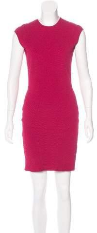 Alexander McQueen Sleeveless Cloqué Dress