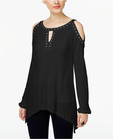INC International Concepts Studded Cold-Shoulder Top, Only at Macy's