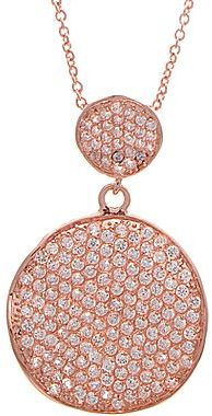 JCPenney 14K Rose-Plated Cubic Zirconia Circle Pendant