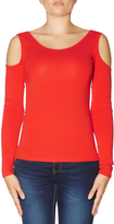 GUESS Long Sleeve Brittany Cold Shoulder Top