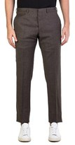 Prada Men's Virgin Wool Twill Slim Fit Trouser Pants Olive Brown.